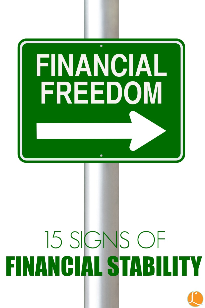 15 Signs of Financial Stability