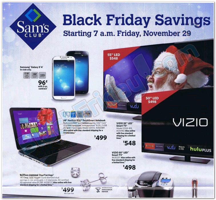 Sam S Club Black Friday Ad 2013 Living Rich With Coupons