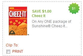 photo relating to Cheez It Coupon Printable known as Fresh $1.00 Coupon For Cheez It Crackers Dwelling Wealthy With