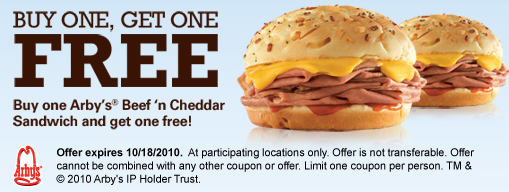 photograph regarding Cheddars Coupons Printable identified as Arbys: BOGO Totally free Beef n Cheddar Sandwich Residing Abundant With
