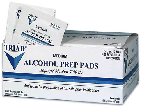 Recall: Triad Group Alcohol Prep Pads, Alcohol Swabs & Alcohol ...