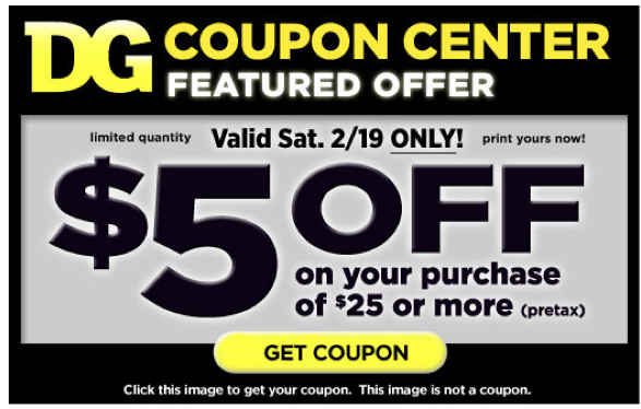 New 5 Off 25 Dollar General Printable Coupon Living Rich With Coupons
