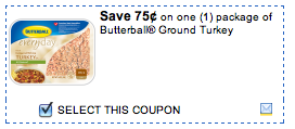 graphic relating to Butterball Coupons Turkey Printable referred to as Contemporary $0.75/1 Butterball Flooring Turkey Printable Coupon