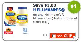 Hellman's mayonnaise coupon june 2018