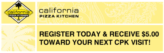 california pizza kitchen coupon - California Pizza Kitchen Coupon
