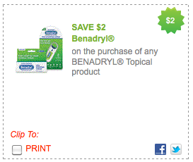 image about Benadryl Printable Coupon identified as Fresh new $2/1 Benadryl Coupon \u003d $0.28 at Walmart Emphasis