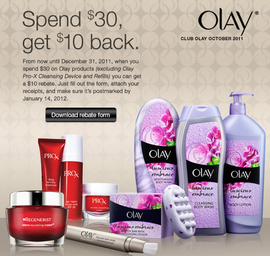 New Olay Rebate: Spend $30 Get $10 | Living Rich With Coupons ...