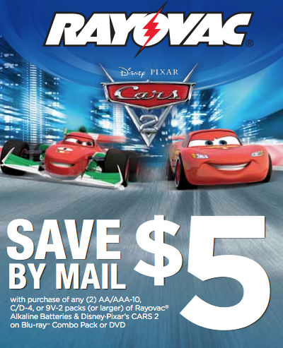 Cars 2 Dvd Rayovac Rebate Living Rich With Coupons