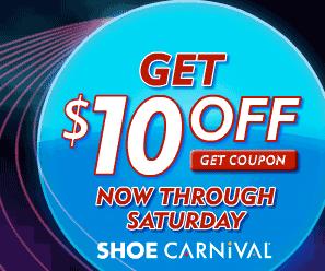 Shoe Carnival Super Weekend Sale: $10