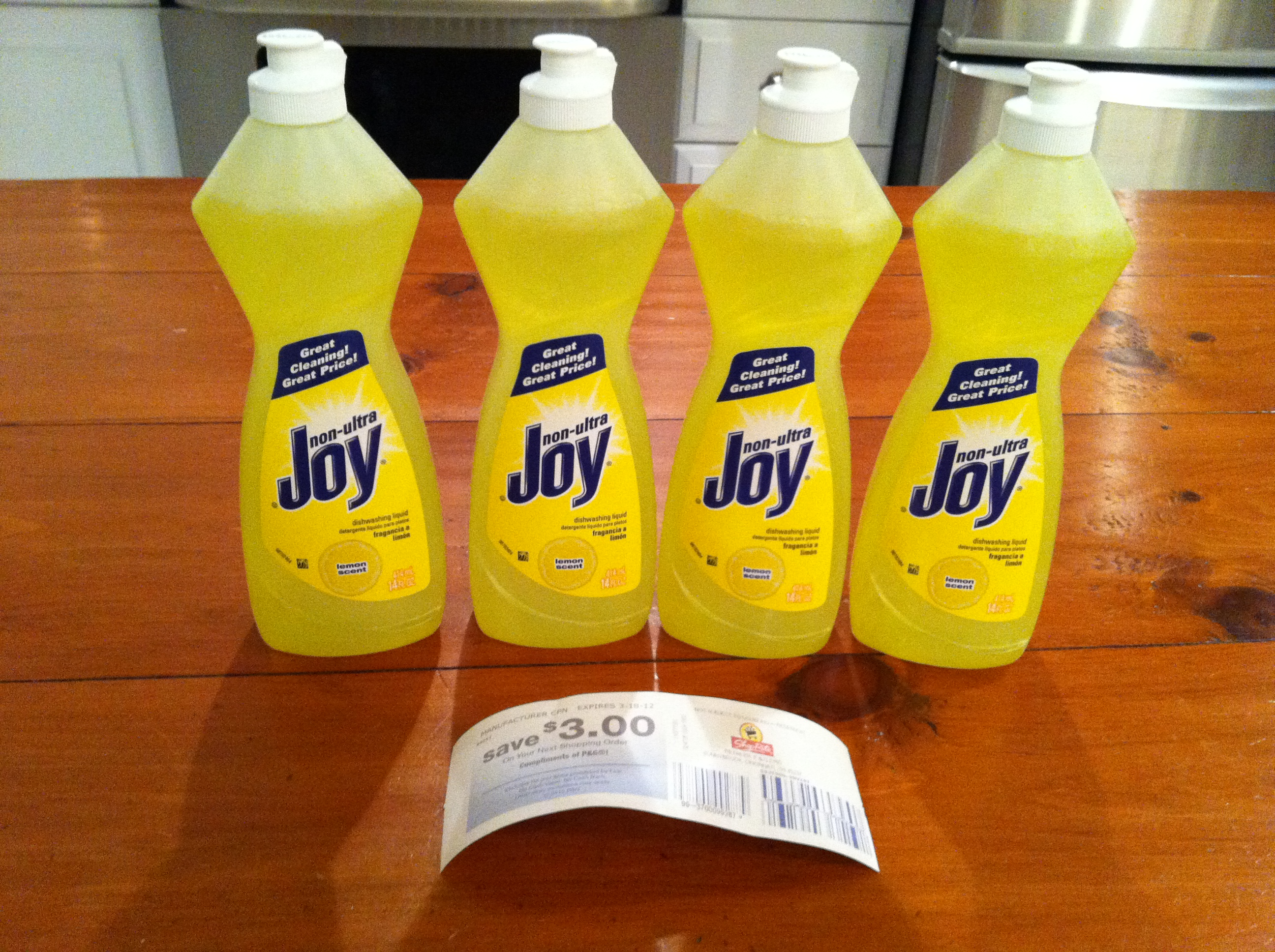 Shoprite Joy Dish Detergent Only 0 24 Living Rich