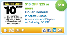 Dollar General 10 Off 25 Coupon Living Rich With Coupons