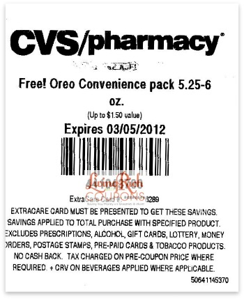Living rich with coupons cvs