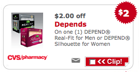 picture relating to Depends Printable Coupons named Clean $2/1 Relies upon CVS Coupon \u003d $2 Monetary Producer Dwelling Abundant