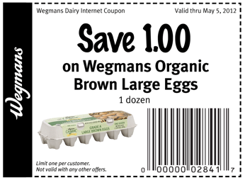 graphic about Wegmans Printable Coupon identified as Wegmans Coupon: $1/1 Wegmans Natural Brown Eggs Dwelling