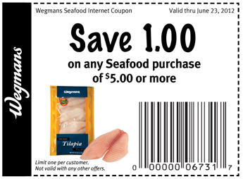 Wegmans Coupon 1 Off 5 Purchase Of Seafood Living Rich With Coupons
