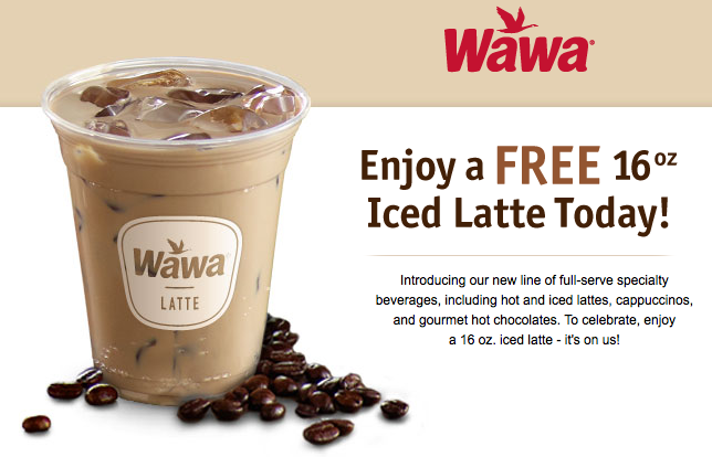 graphic about Wawa Coupons Printable identify No cost Iced Latte at WaWa Residing Wealthy With Coupons®Dwelling