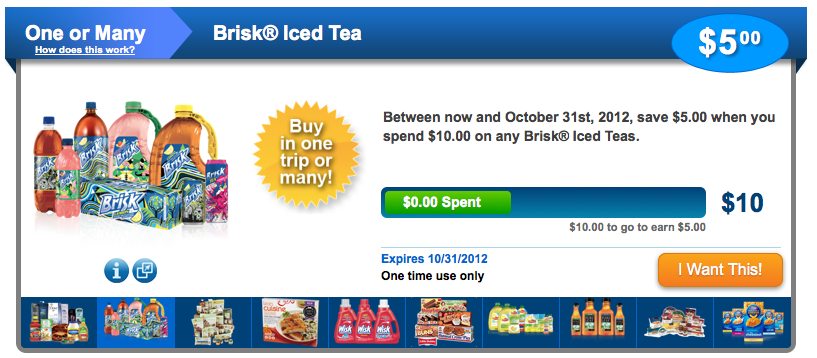 Brisk Iced Tea coupons