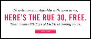 Rue La La Free Shipping Code