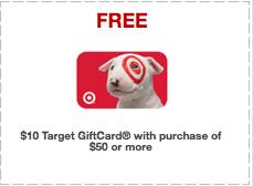 Target Coupon Free $10 Gift Card