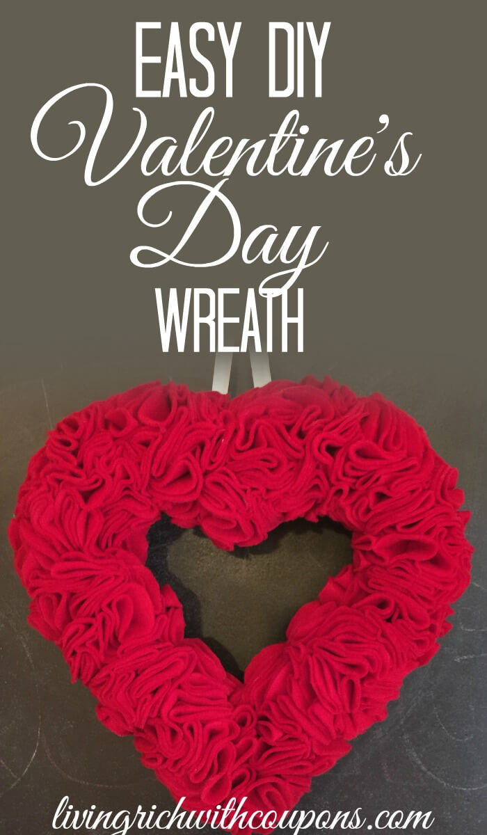 Easy DIY Valentine's Day Wreath
