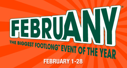 Subway's FebruANY Event Giveaway