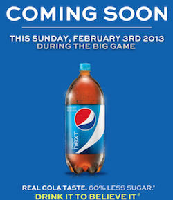 Free Pepsi Next during Super Bowl