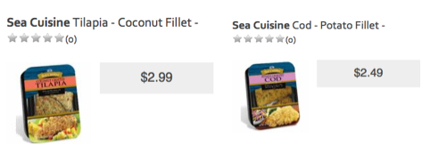 Sea Cuisine Cod & Tilapia as low as $0.49 at ShopRite