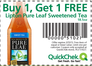 home depot stores new york state with Quick Chek Coupon Bogo Lipton Pure Leaf Tea on 20659731 in addition Haribo Gummies Only 0 59 At Walgreens 45 as well Dsw additionally Quick Chek Coupon Bogo Lipton Pure Leaf Tea in addition 10 Best Summer Salads.