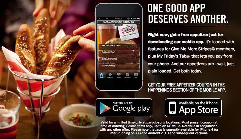 Tgi free appetizer coupon