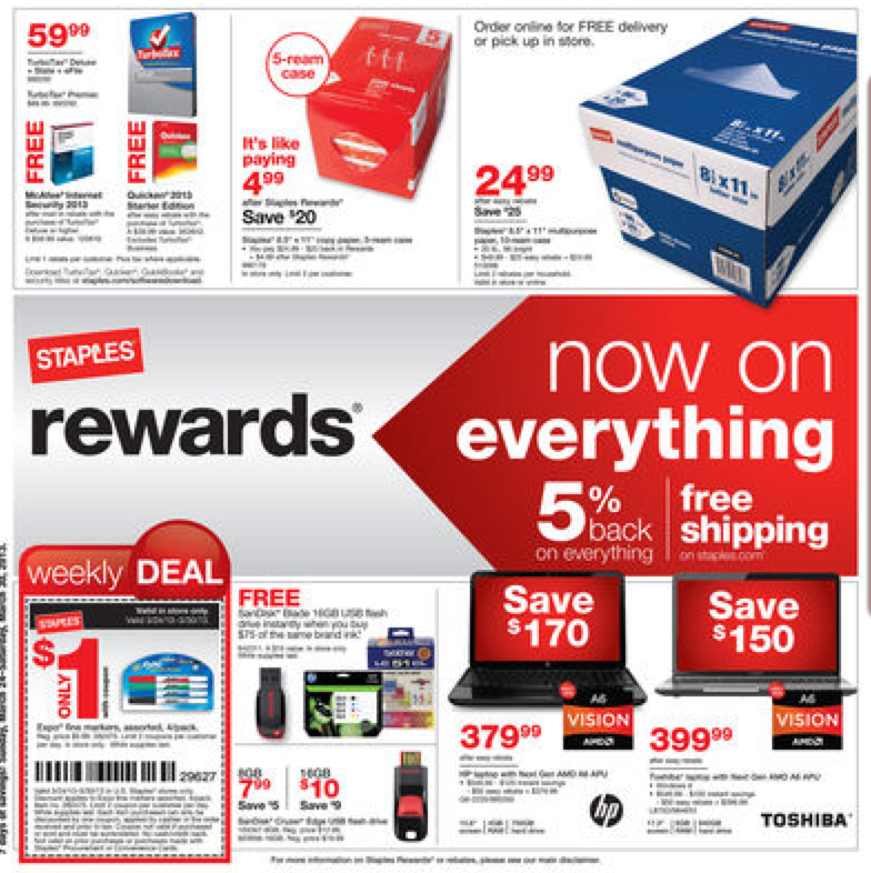 Staples Coupons Deals For The Week Of 3 24 13 Living Rich With