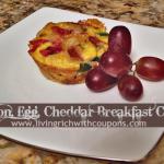 Bacon Egg Cheddar Breakfast Cups