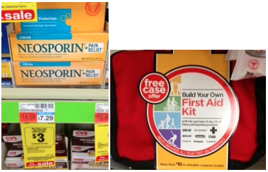 CVS Deal - Neosporin, Band-Aids, and First Aid Kits only $0 50 CVS