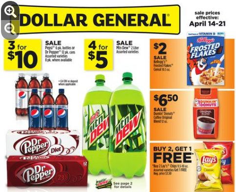 Does dollar general double coupons