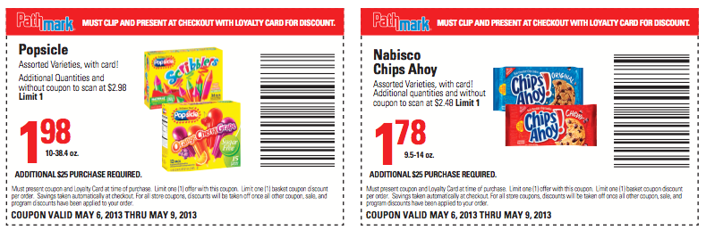 photograph relating to Chips Ahoy Coupons Printable named Pathmark Discount codes - Shopper Appreciation Discount codes for the duration of 5/9