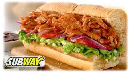 Subway Smokehouse BBQ Chicken