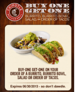 chipolte coupon