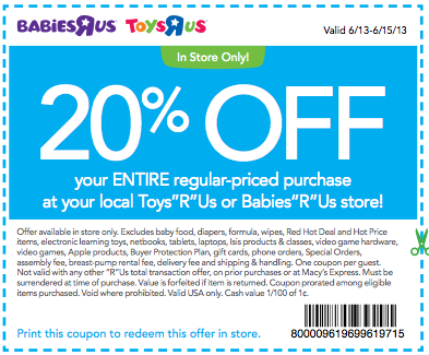 Toys R Us Canada Promo Codes Toys R Us Canada is the number one toy store in the country, selling the latest action figures, dolls, play sets, games, outdoor activities, educational toys, and the other stuff your kids can't get enough of! Knock down the price of your next order or get a free gift using the deals and coupons below.