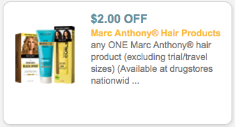 marc anthony hair coupons