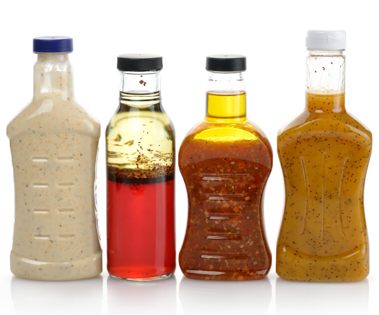 Assortment Of Salad Dressing Bottles