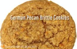 German Pecan Brittle Cookies