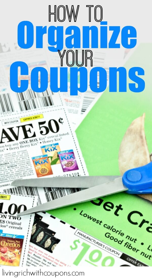 organize coupons