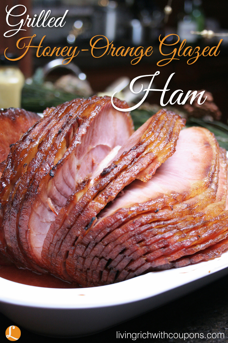 Grilled Honey-Orange Glazed Ham