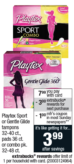 Playtex Gentle Glide Coupon