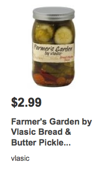 New 1 1 farmer s garden by vlasic pickles coupon deals at target harris teeter more living for Vlasic farmer s garden pickles