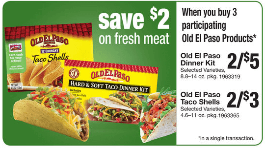 2 In New Old El Paso Coupons Free Taco Shells Tortillas At Stop Shop Free Meat Living Rich With Coupons