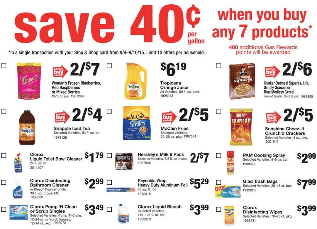 Stop and shop online printable coupons