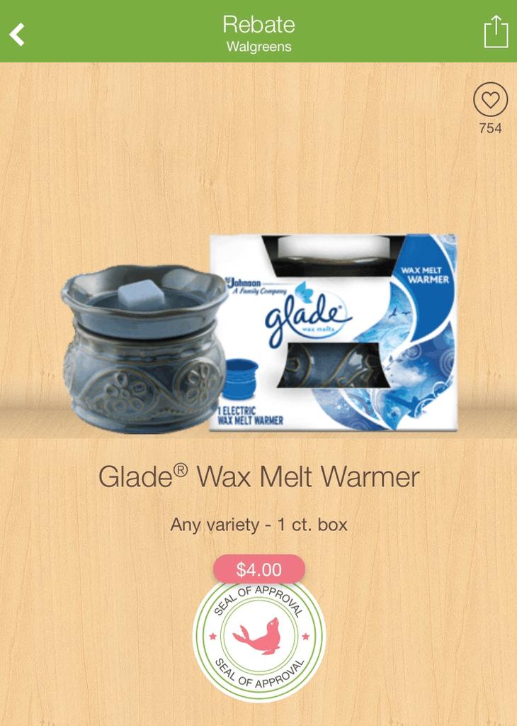 Coupon glade wax warmer