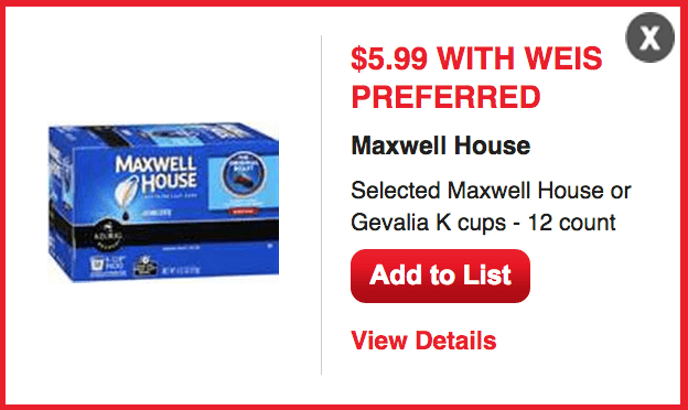 Printable coupons for maxwell house k cups