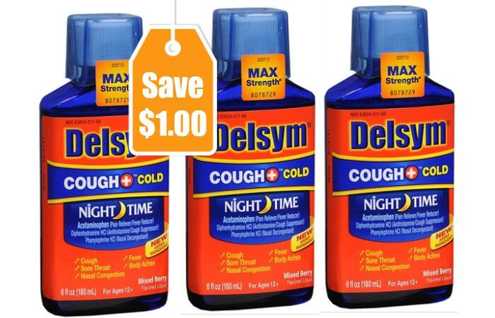 This is a picture of Comprehensive Delsym Printable Coupons