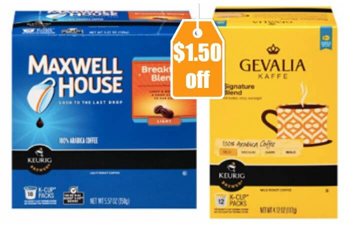 Gevalia Single Service Coffee Pods for Keurig/K-Cup Pods Brewers Dark Royal Roast,18 count.